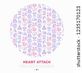 heart attack symptoms concept... | Shutterstock .eps vector #1235170123