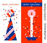 two vertical greeting cards... | Shutterstock .eps vector #1235170246
