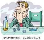 alcoholism  alcohol addiction ... | Shutterstock .eps vector #1235174176