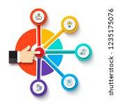 finger presses the button....   Shutterstock .eps vector #1235175076