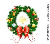 decorative christmas wreath... | Shutterstock .eps vector #1235176309