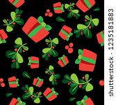 seamless winter pattern with a...   Shutterstock .eps vector #1235181883