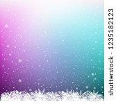 snowfall on dark multicolor... | Shutterstock .eps vector #1235182123