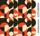 retro seamless pattern design.... | Shutterstock .eps vector #1235188306