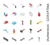an innovative set of objects... | Shutterstock .eps vector #1235197066