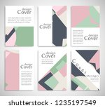 set of a4 cover  abstract... | Shutterstock .eps vector #1235197549