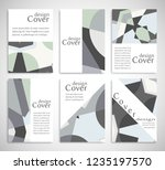 set of a4 cover  abstract... | Shutterstock .eps vector #1235197570