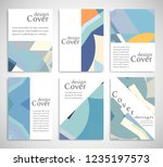 set of a4 cover  abstract... | Shutterstock .eps vector #1235197573