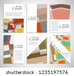 set of a4 cover  abstract... | Shutterstock .eps vector #1235197576