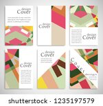 set of a4 cover  abstract... | Shutterstock .eps vector #1235197579