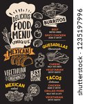 mexican menu template for... | Shutterstock .eps vector #1235197996