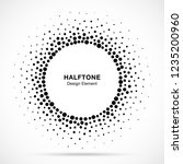 halftone circular dotted frame. ...   Shutterstock .eps vector #1235200960