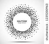 halftone circular dotted frame. ... | Shutterstock .eps vector #1235200963