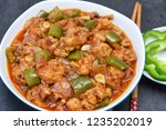 gobi manchurian curry or sweet... | Shutterstock . vector #1235202019