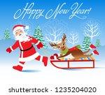 christmas vector illustration.... | Shutterstock .eps vector #1235204020
