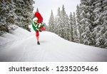 christmas time and green young...   Shutterstock . vector #1235205466
