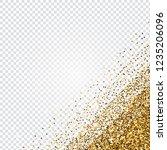 golden glitter abstract corner...   Shutterstock . vector #1235206096