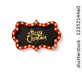 invitation merry christmas... | Shutterstock .eps vector #1235214460