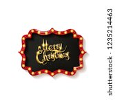 invitation merry christmas... | Shutterstock .eps vector #1235214463