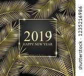 congratulation 2019 happy new... | Shutterstock .eps vector #1235216986