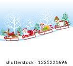 christmas vector illustration.  ... | Shutterstock .eps vector #1235221696