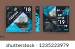 abstract patch brochure cover... | Shutterstock .eps vector #1235223979