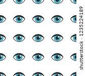 blue eyes seamless pattern.... | Shutterstock .eps vector #1235224189