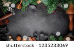 christmas cooking background  ... | Shutterstock . vector #1235233069