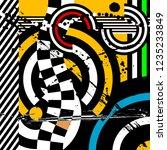 pop art vector illustration... | Shutterstock .eps vector #1235233849