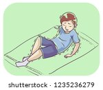 illustration of a kid boy a kid ... | Shutterstock .eps vector #1235236279