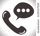phone icon. web logo concept...   Shutterstock . vector #1235237020