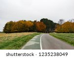 road in phoenix park  dublin ... | Shutterstock . vector #1235238049