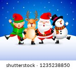 funny christmas characters... | Shutterstock .eps vector #1235238850