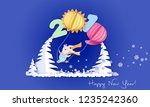 color paper cut design and... | Shutterstock .eps vector #1235242360