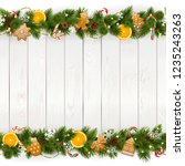 vector christmas background... | Shutterstock .eps vector #1235243263