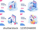 online shopping isometric... | Shutterstock .eps vector #1235246830