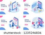 online shopping isometric... | Shutterstock .eps vector #1235246836