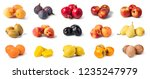 fruit set isolated on white... | Shutterstock . vector #1235247979