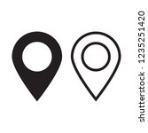 maps pin. location map icon.... | Shutterstock .eps vector #1235251420