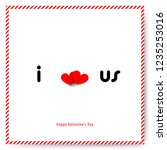 simple heart for valentine's... | Shutterstock .eps vector #1235253016