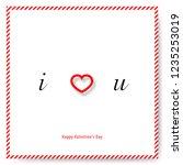 simple heart for valentine's... | Shutterstock .eps vector #1235253019