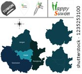 vector map of suwon  south... | Shutterstock .eps vector #1235253100
