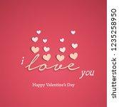 love for valentine's day.... | Shutterstock .eps vector #1235258950