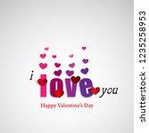 love for valentine's day.... | Shutterstock .eps vector #1235258953