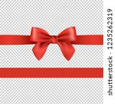 red bow isolated transparent... | Shutterstock . vector #1235262319