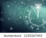 2019 happy new years background.... | Shutterstock .eps vector #1235267443