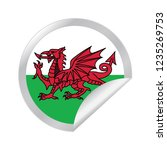 vector wales circle folded | Shutterstock .eps vector #1235269753