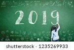 2019 class calendar new year...   Shutterstock . vector #1235269933