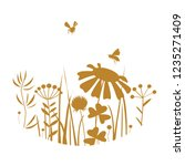 vintage honey card with bees... | Shutterstock .eps vector #1235271409