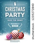 christmas party poster  flyer ... | Shutterstock .eps vector #1235272840